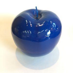 Bitossi Deko Kerze Apfel blau
