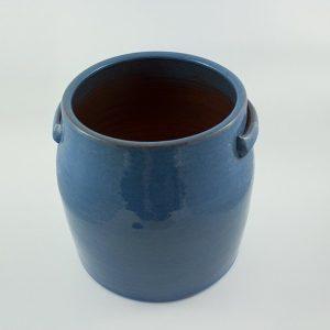Blumentopf Keramik glasiert mit Griffen M