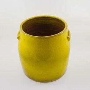 Blumentopf Keramik glasiert mit Griffen L