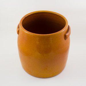 Blumentopf Keramik glasiert mit Griffen XL