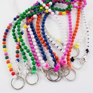 Ina Seifart Schlüsselanhänger lang einfarbige Perlen