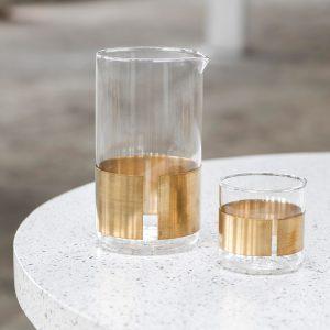 Glas mit Messingring von Serax