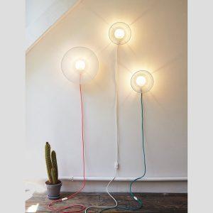 Petite Friture Wandlampe Grillo, klein mit Kabel