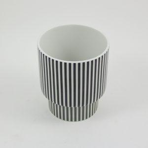 Vase Romina Gris Becher schwarz-weiß