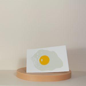 Spiegelei Siebdruckkarte von Zwölfer