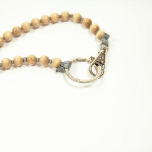 Ina Seifart Schlüsselanhänger lang natur Perlen glänzend