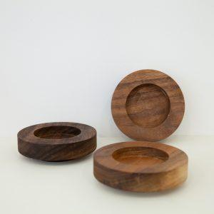 Stapelkerze von CANDL STACKS – Holzuntersetzer